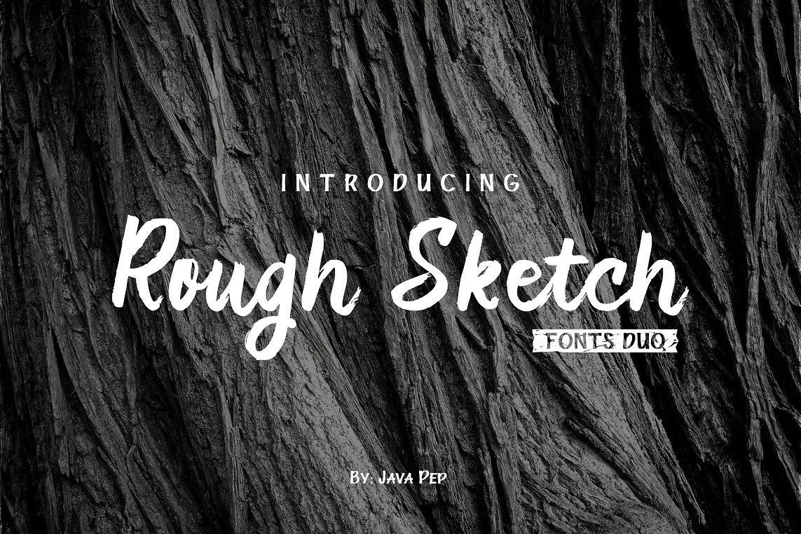 """Handwritten brush font """"Rough Sketch – fonts duo"""""""