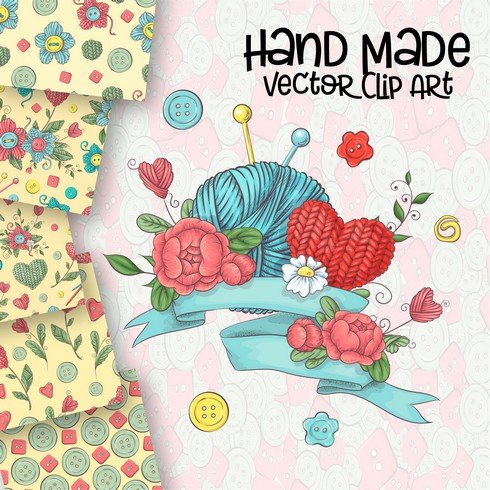 Hand Made Vector Clip Art - $20 - 1 1 1