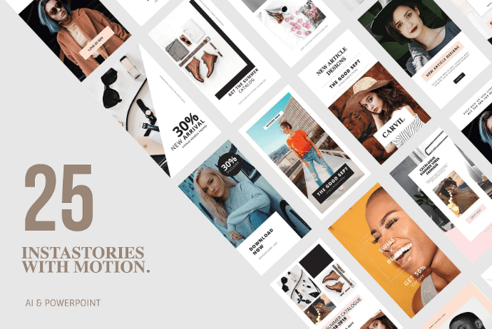 20+ Tools for Instagram Fonts in 2020. Awesome and Customize! - 25 Animation Instagram Stories and PowerPoint Templates