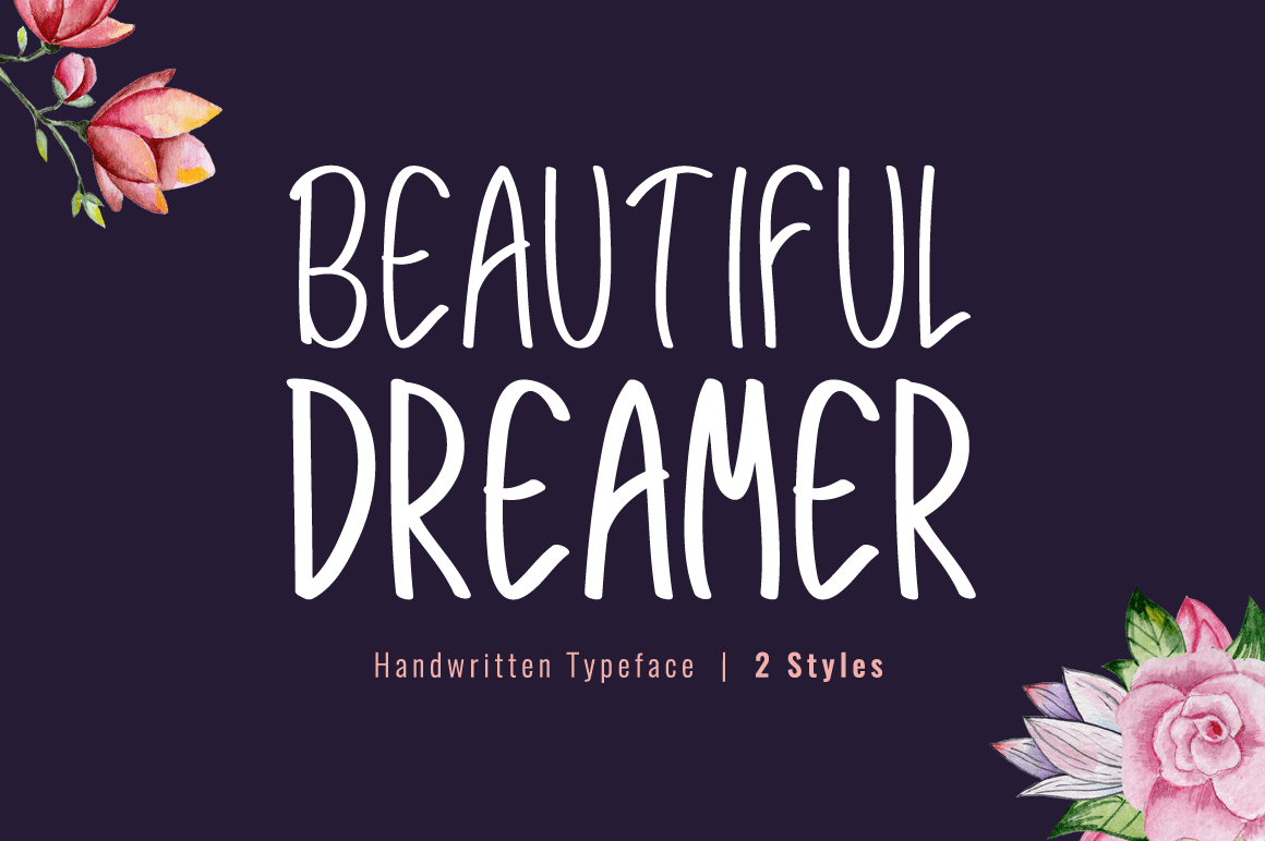 Beautiful Dreamer Font – Modern Handwritten Typeface – $2 - Beautiful Dreamer Preview 1.2