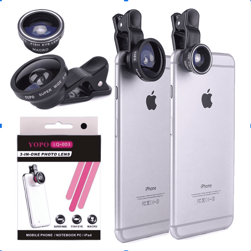 50+ Gifts for Marketers: Christmas, Birthday, Valentine's Day in 2020 - Clip on Smartphone Camera Lens Kit