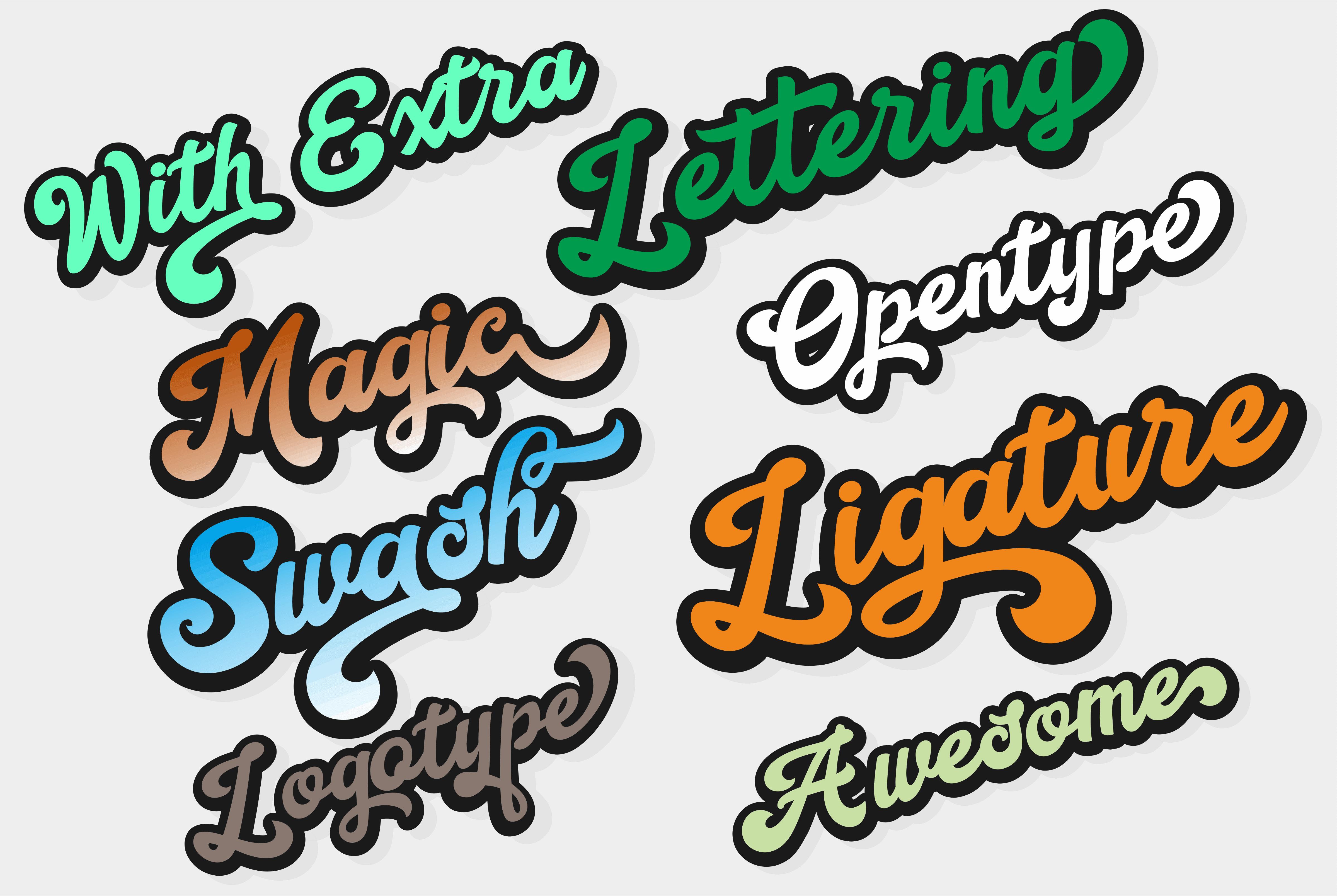 Retro Vintage Font Handy Script - $10 - view3