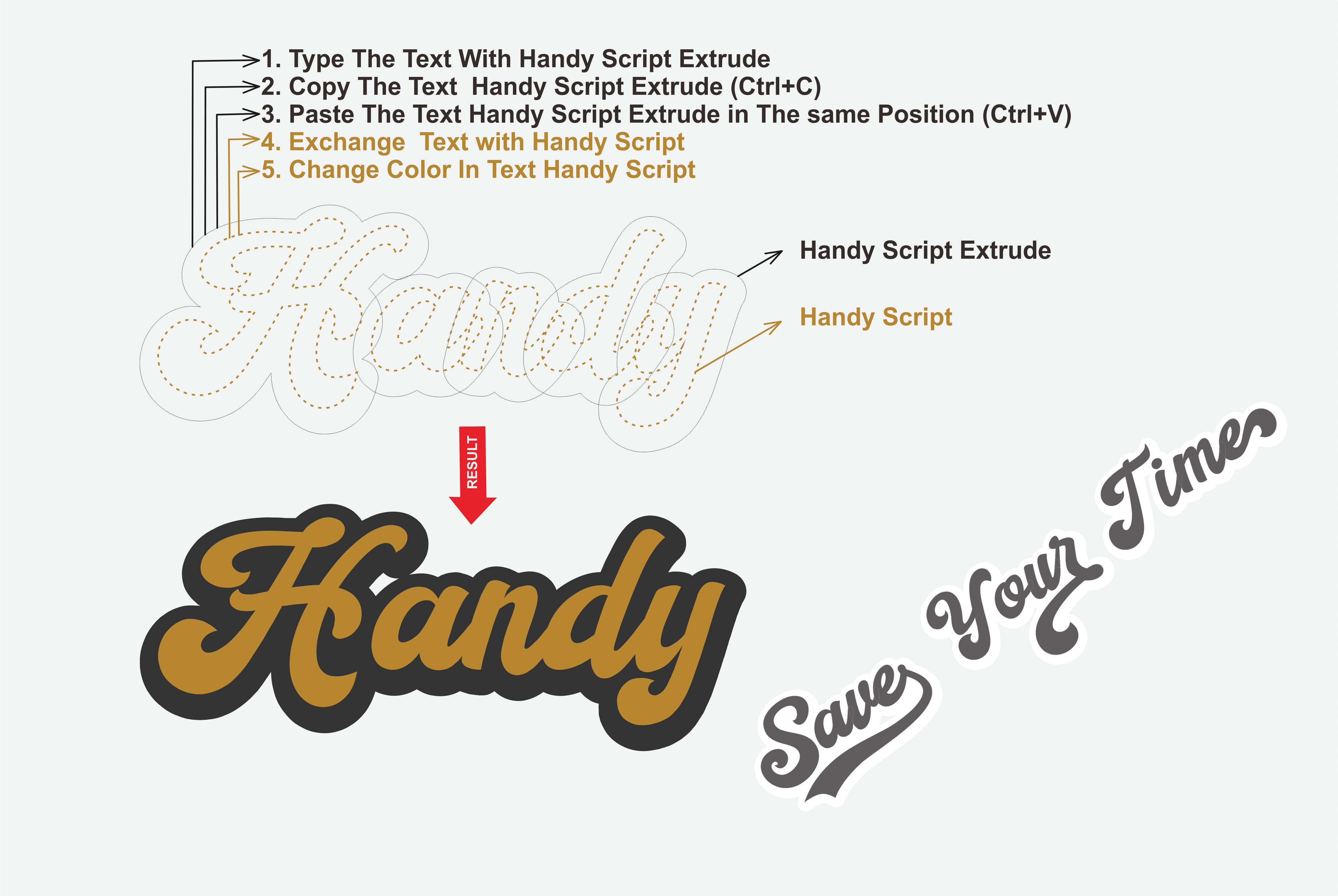 Retro Vintage Font Handy Script - $10 - view7
