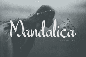 Mandalica Calligraphy Handwriting Font - $12 - Mandalica1 1 300x200