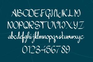 Mandalica Calligraphy Handwriting Font
