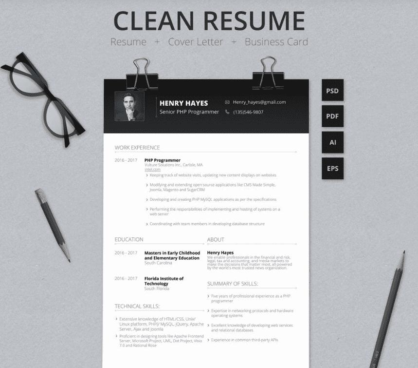 50+ Best Free Resume Templates in 2020 - Screenshot 14