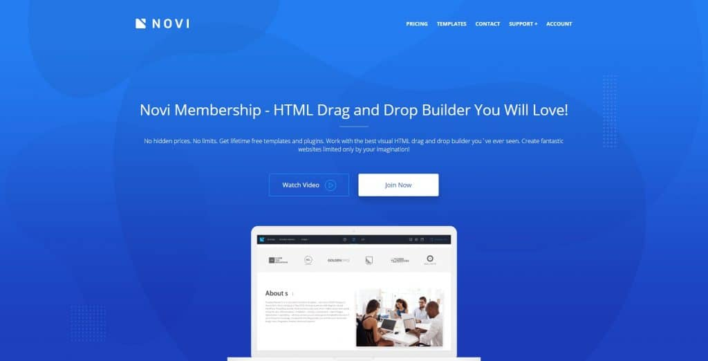 Novi Builder HTML Drag and Drop Builder. All the Ins and Outs - novi home 1