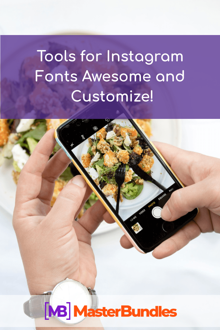 Tools for Instagram Fonts. Pinterest Image.