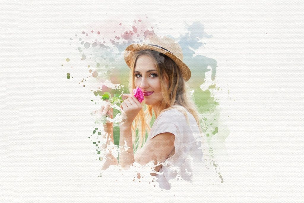 Watercolor Portrait Photo Masks - 2