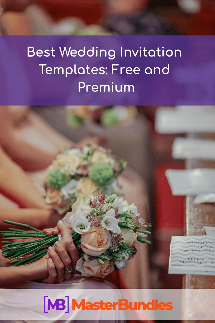 Best Wedding Invitation Templates. Pinterest Image.