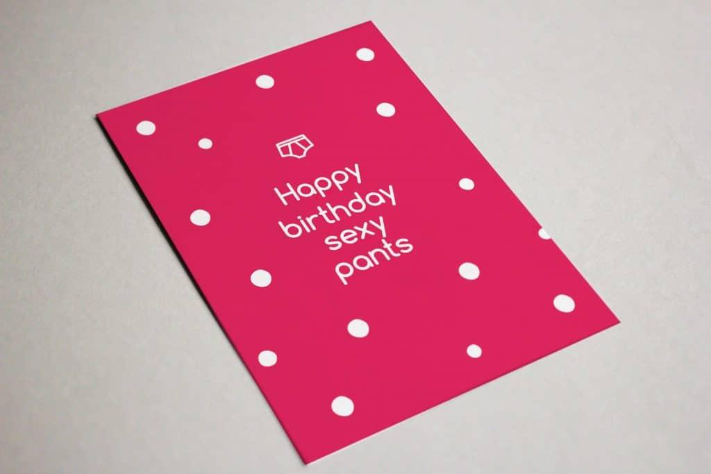 Happy Birthday Sexy Pans Card