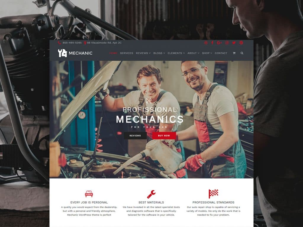 Top 35+ Creative Agency WordPress Themes - Mechanic WordPress Theme Business Site Builder