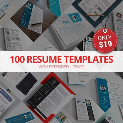 100 Open Office Resume Templates with Extended License - Only $19 - bundle