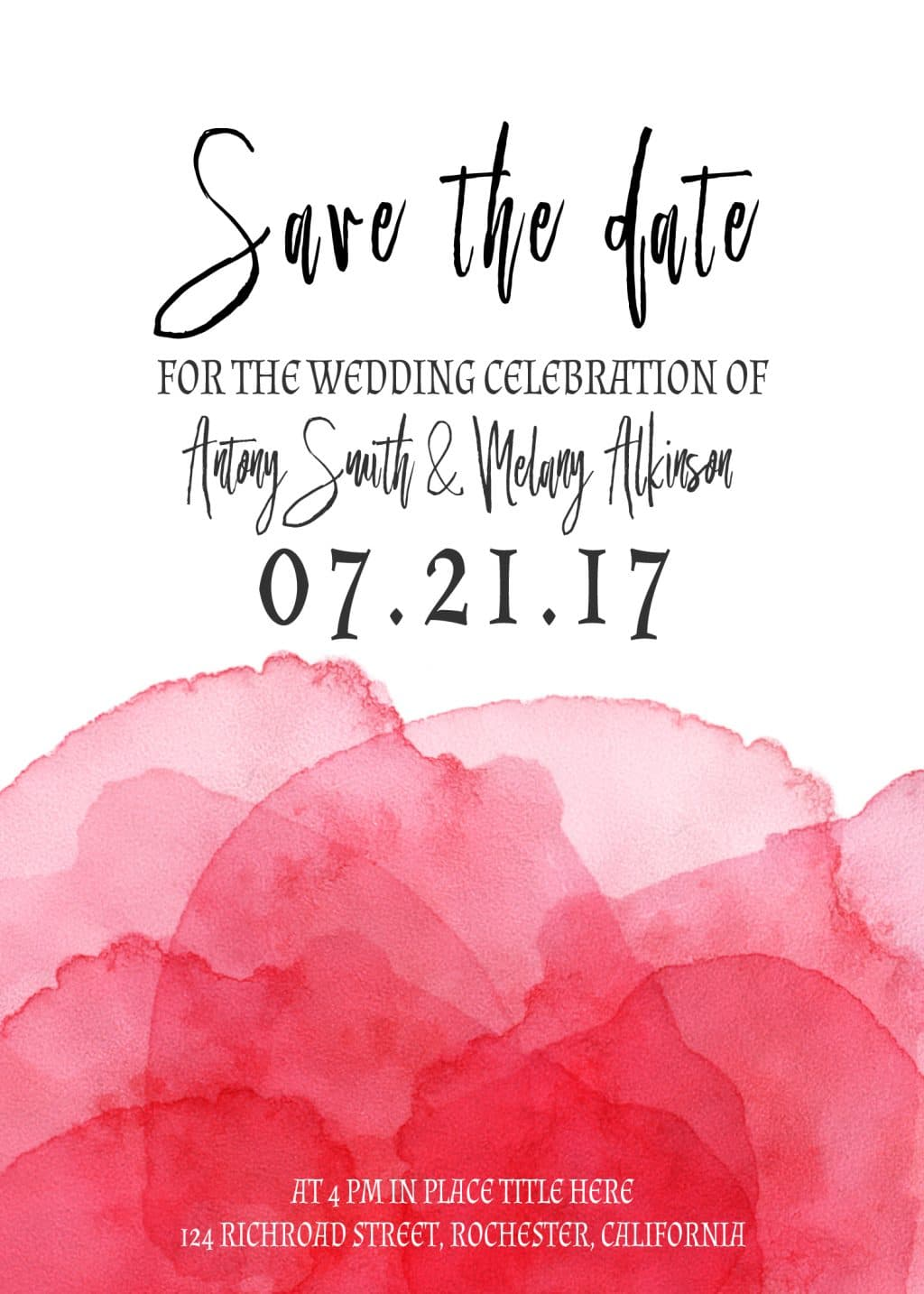3 Save the Date Postcards: Watercolor Flamingo - card 8