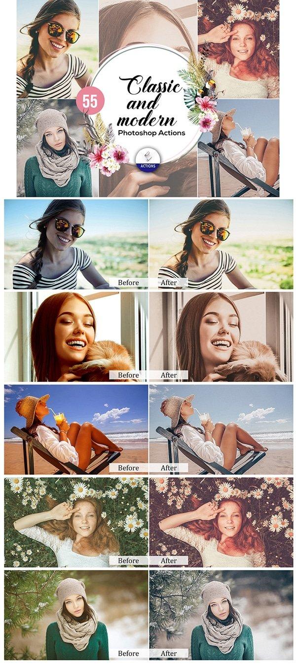 Mega Giant Bundle! 15 000 Photoshop Actions - $49 - Classic and Modern Photoshop Actions
