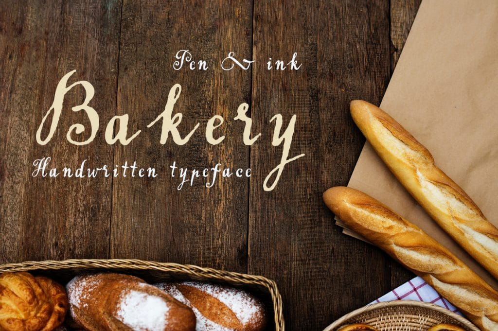 Handwritten Rustic Typeface Bakery