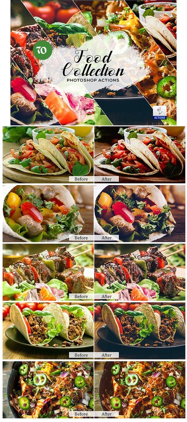 Mega Giant Bundle! 15 000 Photoshop Actions - $49 - Food Collection Photoshop Actions