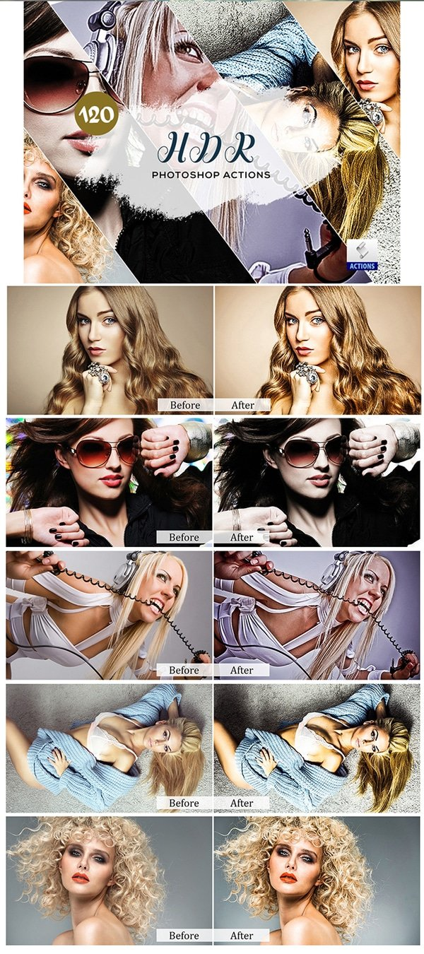 Mega Giant Bundle! 15 000 Photoshop Actions - $49 - HDR Photoshop Actions