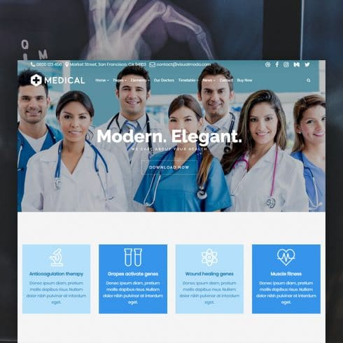 Author - Medical WordPress Theme Clinic Doctor Website Builder 490x490