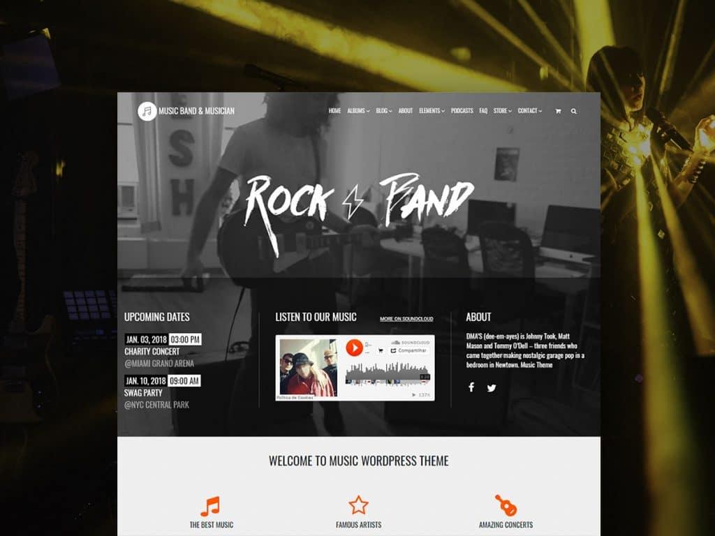 Music WordPress Theme - $25 - Music WordPress Theme Musician Site Builder