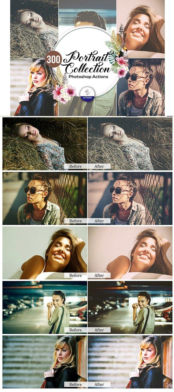 Mega Giant Bundle! 15 000 Photoshop Actions - $49 - Portrait Collection Photoshop Actions