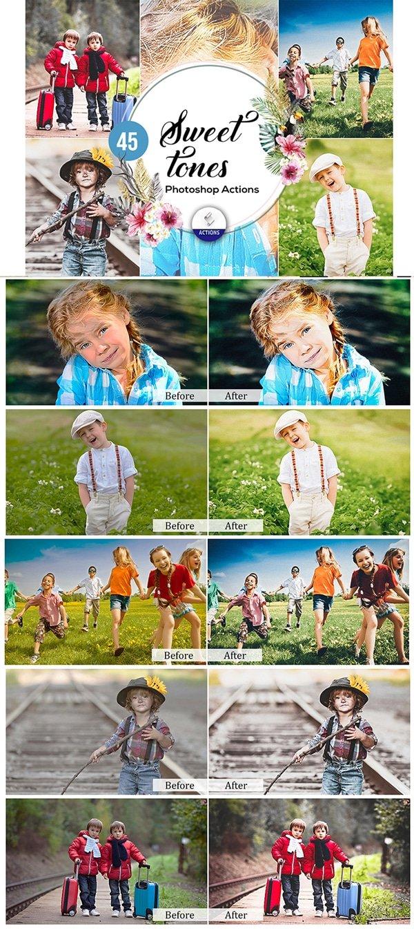 Mega Giant Bundle! 15 000 Photoshop Actions - $49 - Sweet Tones Photoshop Actions