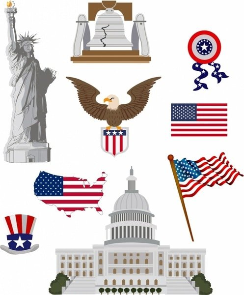 60+ American Flag Vector Products For Your Design Project 2020 - american culture