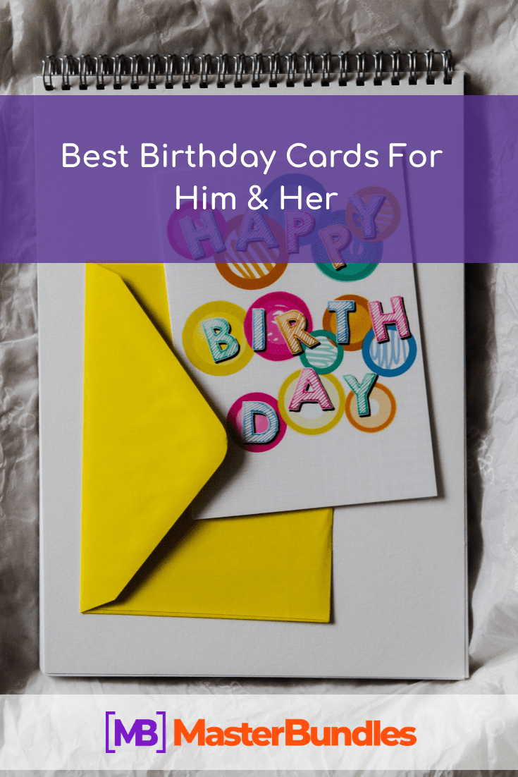 Best Birthday Cards For Him & Her. Pinterest Image.
