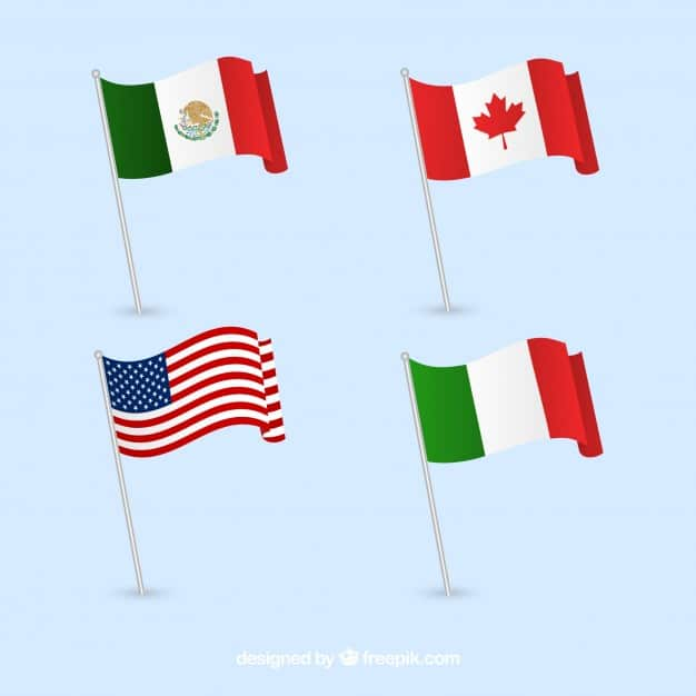 60+ American Flag Vector Products For Your Design Project 2020 - canada mexico italy united states flags