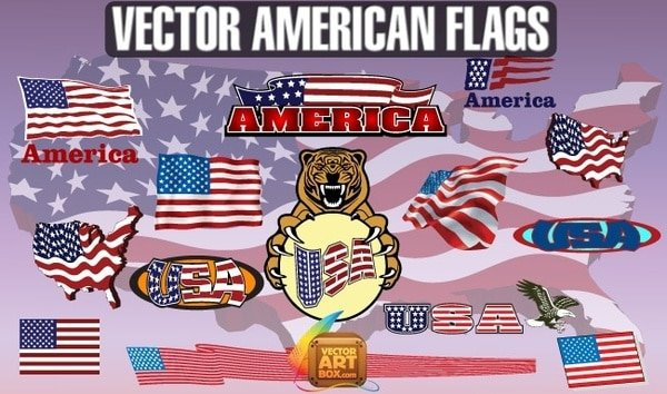 60+ American Flag Vector Products For Your Design Project 2020 - free american flags