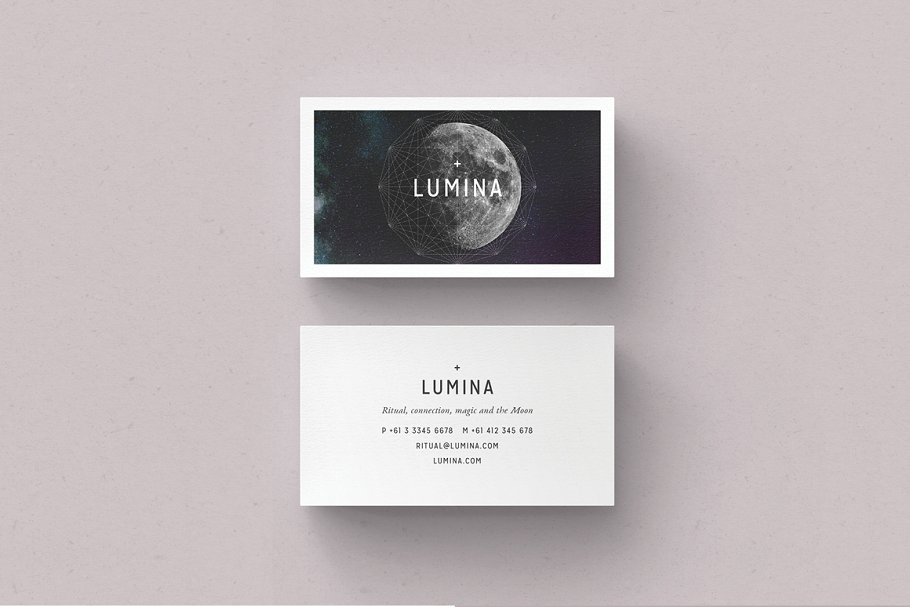 Stylish cards with a planet with a matte finish.