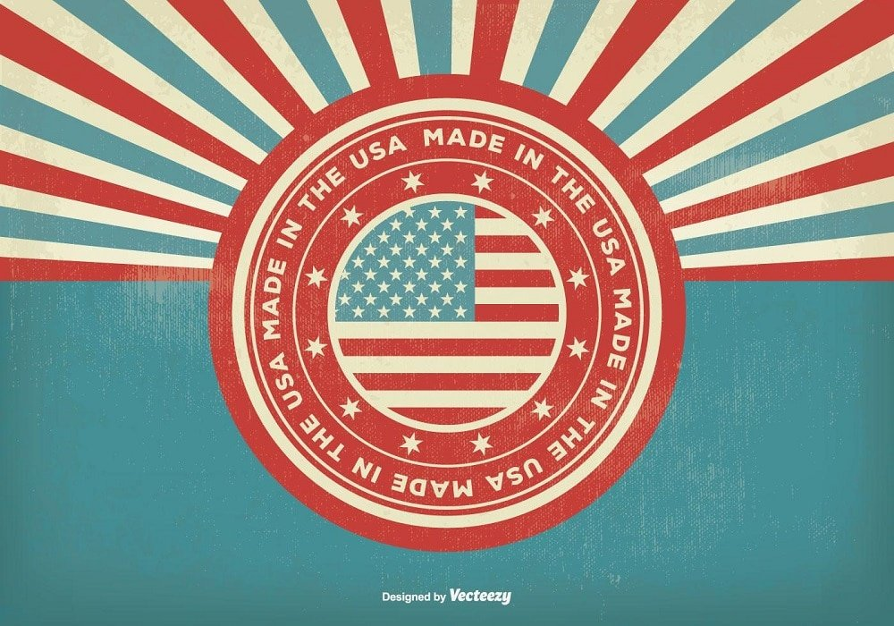 60+ American Flag Vector Products For Your Design Project 2020 - made in the usa illustration