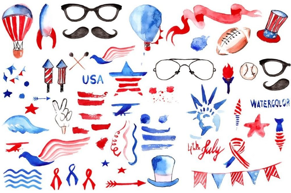 60+ American Flag Vector Products For Your Design Project 2020 - patriotic america clip art
