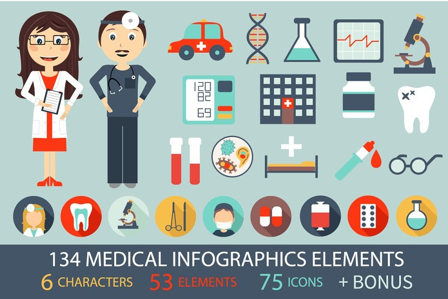15+ Medical Infographics 2019: Free and Premium | PPT, KEY, PSD, EPS, AI - 1