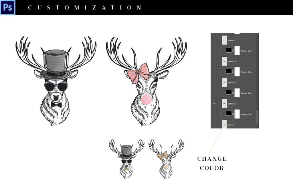 10- in-1 Animals Go Wild Illustrations - $21 - 3 3