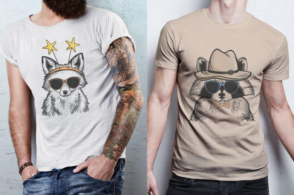 10- in-1 Animals Go Wild Illustrations - $21 - 9 1