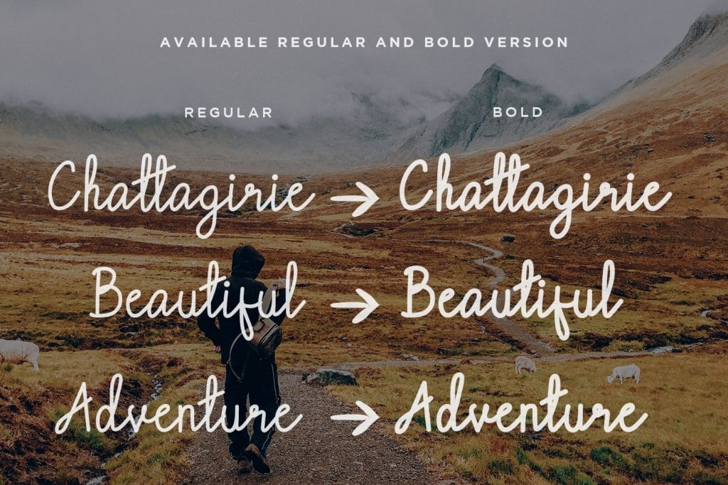 Chattagirie - HandwrittenScript Font