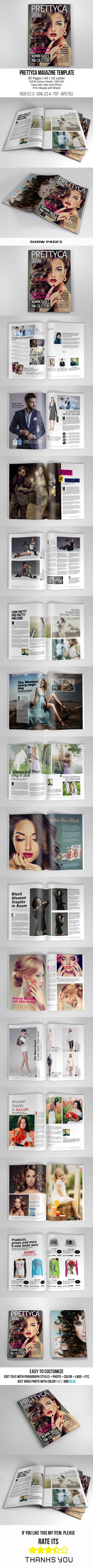 Prettyca Magazine Vol.2 A4/US Letter