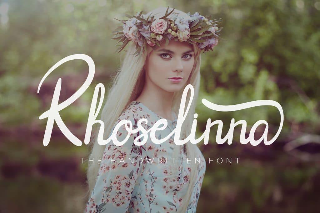 4 Premium & Beautiful Script Fonts - 3$ - Rhoselinna