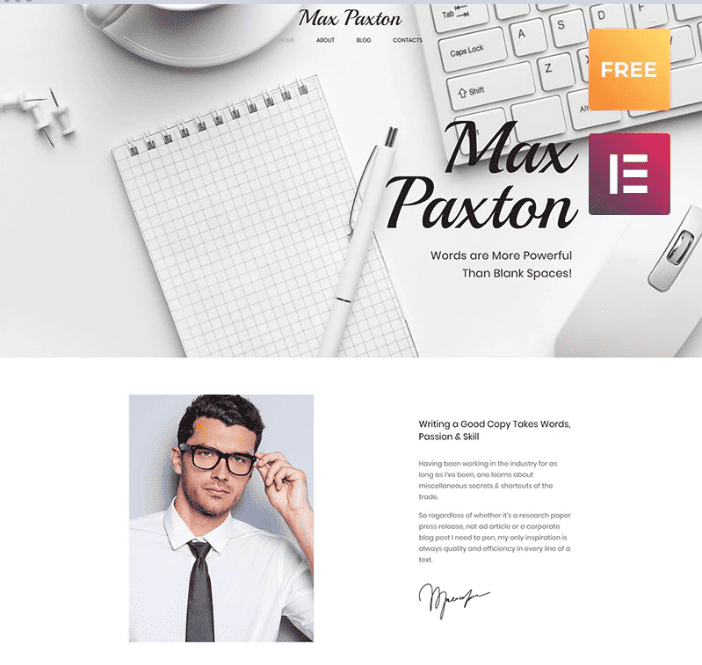 100+ Best Minimal WordPress Themes for Begginers in 2020. Free and Premium [Updated] - Screenshot 2