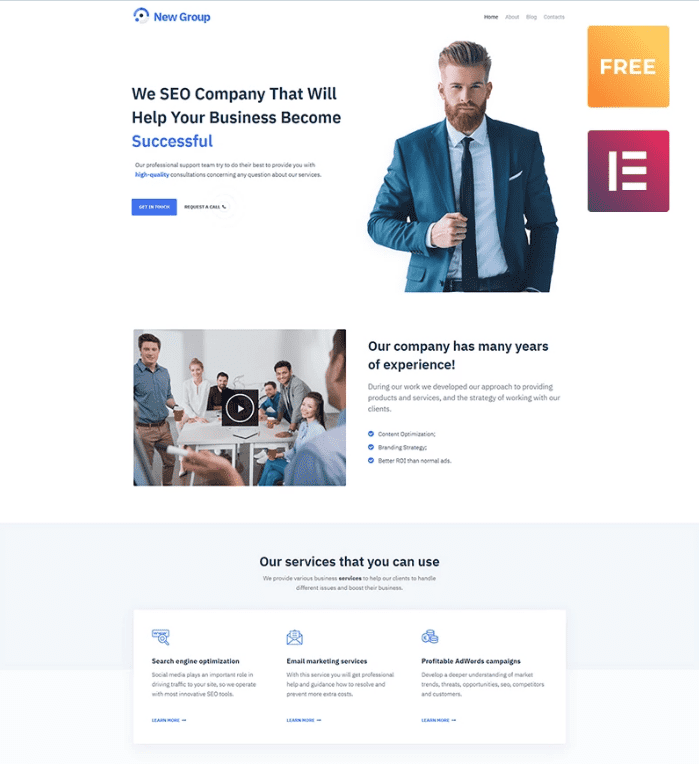 100+ Best Minimal WordPress Themes for Begginers in 2020. Free and Premium [Updated] - Screenshot 7