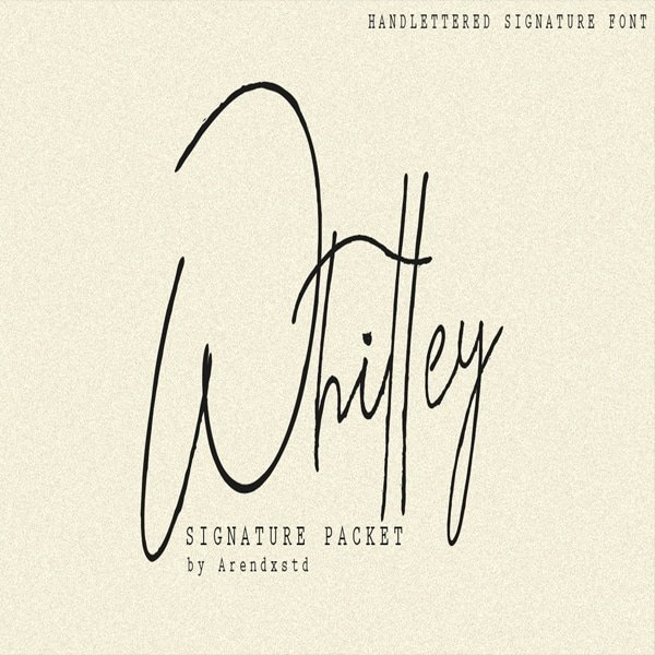 Modern Signature Fonts Bundle - 15 Items - $10 - Whitley