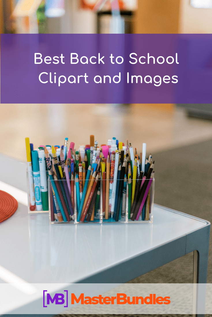 Best Back to School Clipart and Images. Pinterest Image.