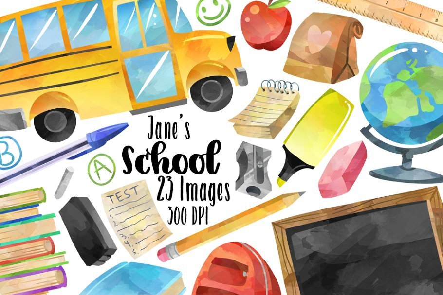 55+ Best Back to School Clipart and Images: Largest Kit 2020 - example 01