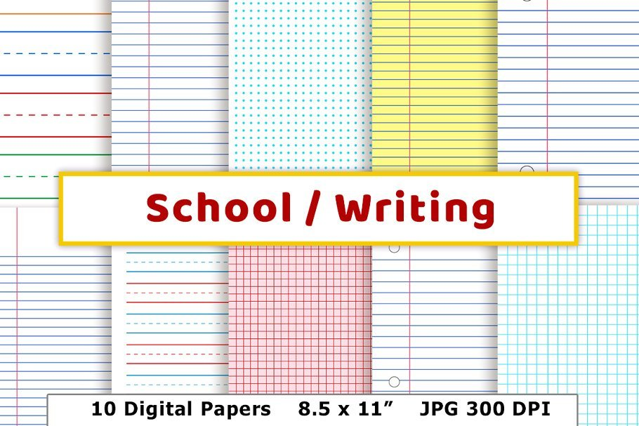 55+ Best Back to School Clipart and Images: Largest Kit 2020 - schooldigitalpapers promo main cm