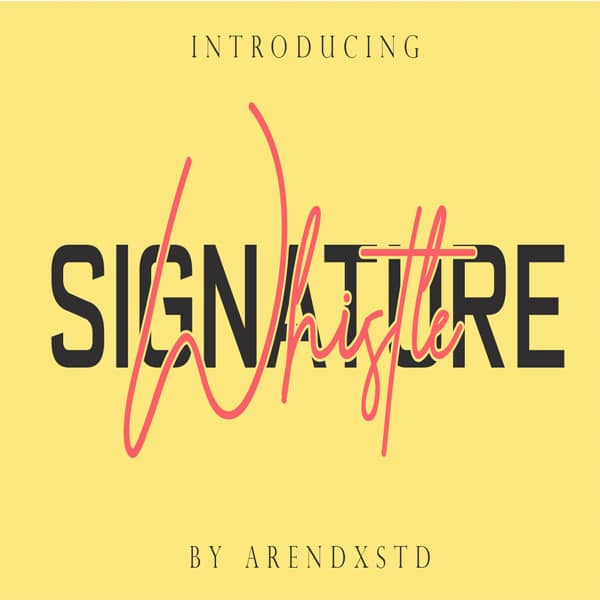 Modern Signature Fonts Bundle - 15 Items - $10 - whistle
