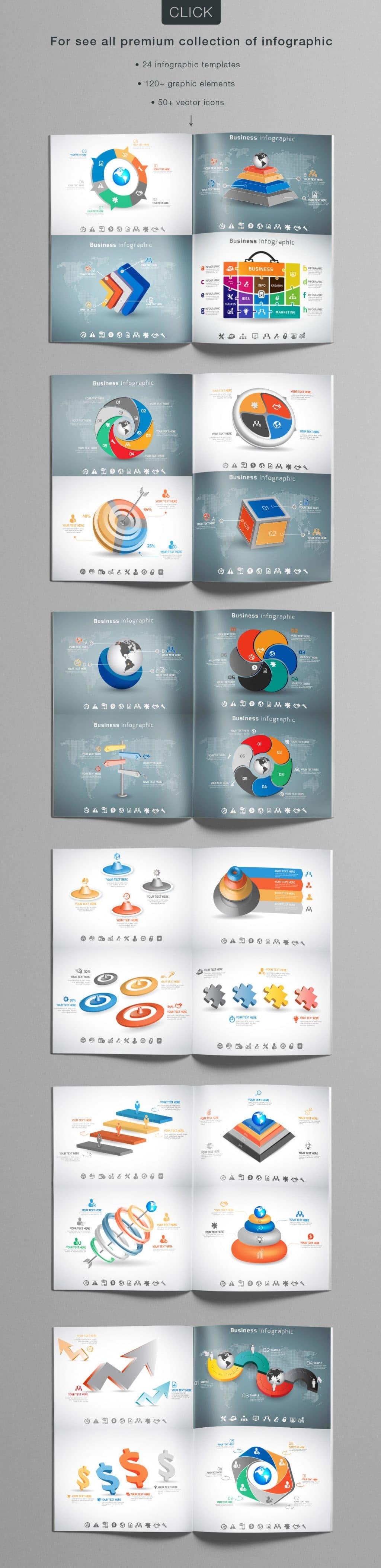 24 Premium Collection of Infographics - $9 - 07