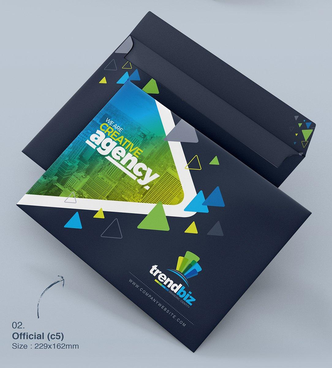 Stationery Branding Identity Bundle - $39 - 10 Envelop Official Size C5