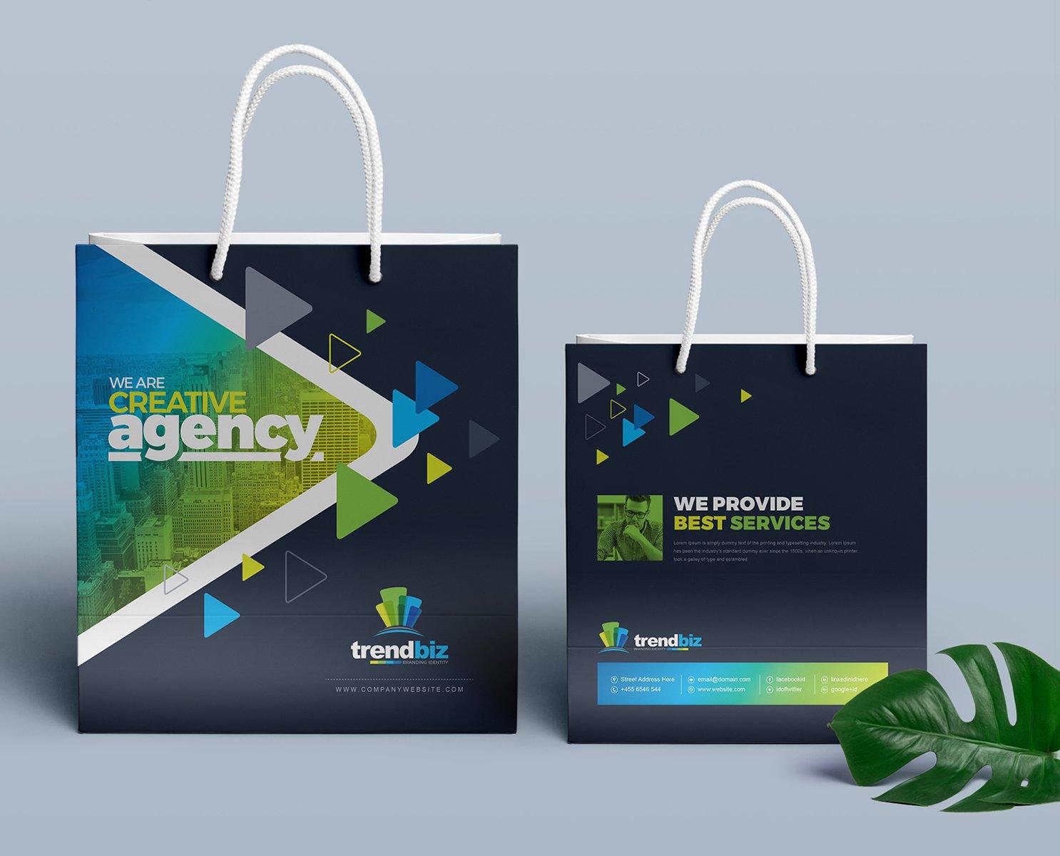 Stationery Branding Identity Bundle - $39 - 28 Shopping Bag Standard Size
