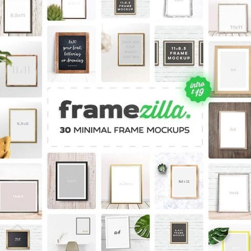 230+ Professional Mockups Bundle with Pre-made Responsive Sets - 30 frame mockups pictures